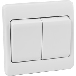 Scolmore Click Click Mode 10A Wide Rocker Switch 2 Gang 2 Way - 80765 - from Toolstation