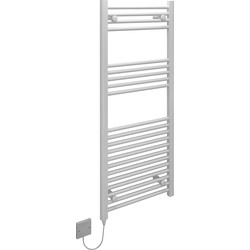 Kudox Kudox Electric Low Surface Temperature (LST) Prefilled Flat Towel Radiator 1200 x 500mm White 125W - 80774 - from Toolstation
