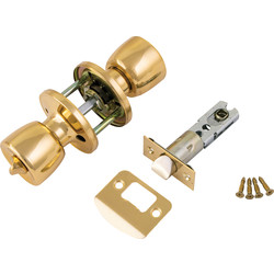ERA ERA Door Knob Set Privacy Brass - 80780 - from Toolstation