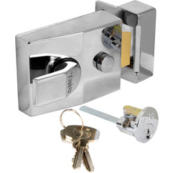 Yale Deadlocking Nightlatch 89 Standard Chrome