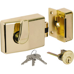 Roller Bolt Nightlatch Brass Standard