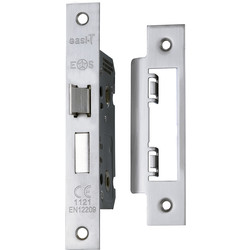 "Eurospec Eurospec Bathroom Lock 2.5"" Satin Nickel - 80965 - from Toolstation"