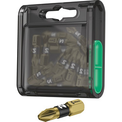 Wera Wera Gold Bi Torsion Screwdriver Bit Box PZ2 - 81039 - from Toolstation