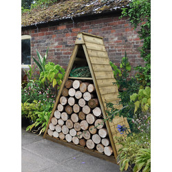 Forest Forest Garden Pinnacle Log Store 183cm (h) x 149cm (w) x 65cm (d) - 81147 - from Toolstation