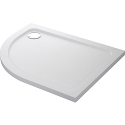 Mira Flight Safe Offset Quadrant Shower Tray 1200 x 900mm RH