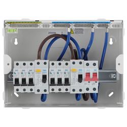 BG Metal Consumer Unit Dual RCD Type A + 6 MCBs