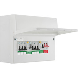 BG BG Metal Consumer Unit Dual RCD Type A + 6 MCBs 6 Way - 81269 - from Toolstation