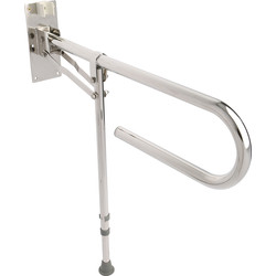Croydex Croydex Drop Down Grab Bar Chrome with Leg - 81342 - from Toolstation