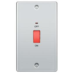 BG Polished Chrome 45A Double Pole Switch