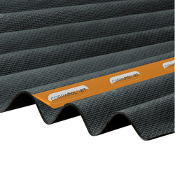 Corrapol Corrapol-BT Corrugated Bitumen Sheet Black 930 x 2000mm - 81405 - from Toolstation