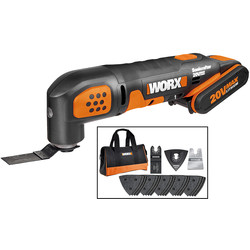 Worx Worx WX682 20V Max Li-Ion Sonicrafter Cordless Multi Cutter 1 x 2.0Ah - 81472 - from Toolstation