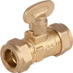 Isolating Gas Ball Valve 22mm