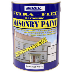 Bedec Bedec Extra-Flex Elastomeric Masonry Paint Brilliant White 5L - 81624 - from Toolstation