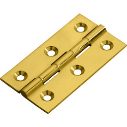 Carlisle Brass Cabinet Hinge 64 x 35 x 2mm Polished Brass - 81625 - from Toolstation