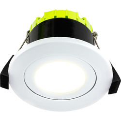 Luceco FType Compact Adjustable Integrated Dimmable 6W Fire Rated IP20 Downlight