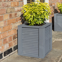 Rowlinson Rowlinson Palermo Square Planter 45cm (h) x 39cm (w) x 39cm (d) - 81713 - from Toolstation