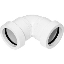 Aquaflow Push Fit Bend 40mm x 92.5° White - 81729 - from Toolstation