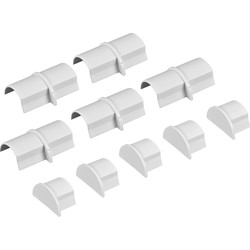 D Line Trade D-Line Coupler & End Cap Pack Mini  5 x Coupler & 5 x End Cap - 81783 - from Toolstation