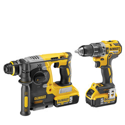 DeWalt 18V XR Brushless Combi SDS Twin Pack
