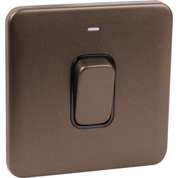 Schneider Schneider Lisse Mocha Bronze Screwless 50A DP Switch 1 Gang LED Indicator - 81879 - from Toolstation