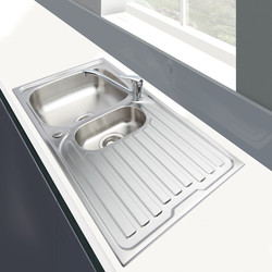 Stainless Steel Reversible Kitchen Sink & Drainer