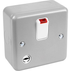 MK MK Metal Clad 20A DP Switch With Neon & Flex Outlet - 82084 - from Toolstation