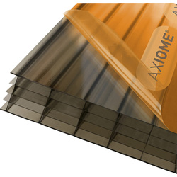 Axiome Axiome 25mm Polycarbonate Bronze Fivewall Sheet 690 x 3000mm - 82110 - from Toolstation