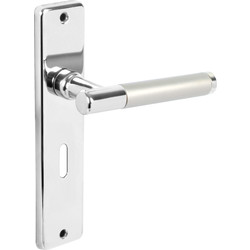 Urfic Biarritz Door Handles Lock Twin Tone - 82191 - from Toolstation