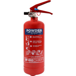 Fire Chief Firechief Dry Powder Fire Extinguisher 2kg Rating 13A 89B C - 82202 - from Toolstation