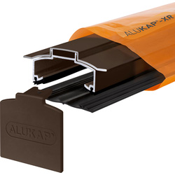 Alukap Alukap-XR Concealed Fix Hip Bar with Gasket Brown 4800mm - 82204 - from Toolstation