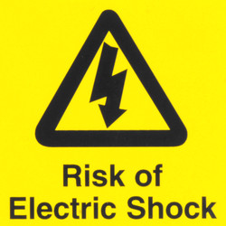 Electrical Warning Signs Risk of Electric Shock - 82285 - from Toolstation