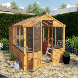 Mercia Mercia Traditional Apex Greenhouse Combi Shed 10' x 6' - 82299 - from Toolstation