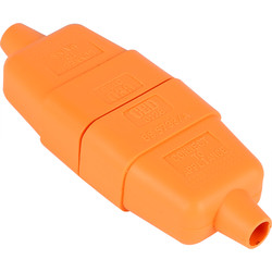 Unbranded Flex Connector 10A 2 Core Orange - 82342 - from Toolstation