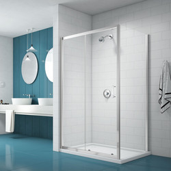 Merlyn Nix Merlyn NIX Sliding Shower Enclosure Door and Side Panel 1200 x 900mm - 82453 - from Toolstation
