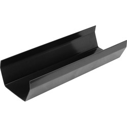 Aquaflow 114mm Square Line Gutter 3m Black - 82474 - from Toolstation