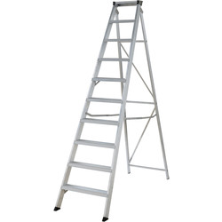 Youngman Youngman Industrial Builders Step Ladder 10 Tread SWH 3.23m - 82501 - from Toolstation