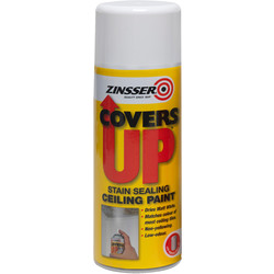 Zinsser Zinsser Covers Up Vertical Ceiling Spray Paint White 400ml - 82569 - from Toolstation