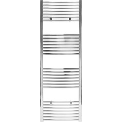 Qual-Rad Chrome Flat Towel Radiator 1600 x 550mm 1881Btu - 82588 - from Toolstation