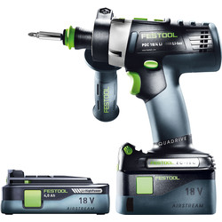 Festool Festool PDC 18/4 18V Cordless Combi Drill 1 x 5.2Ah & 1 x 4.0Ah - 82599 - from Toolstation
