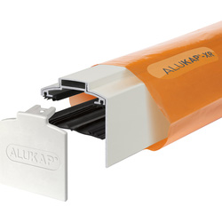 Alukap Alukap-XR Concealed Fix Gable Bar with Gasket White 3000mm - 82615 - from Toolstation
