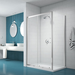 Merlyn Nix Merlyn NIX Sliding Shower Enclosure Door and Side Panel 1600 x 800mm - 82643 - from Toolstation