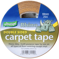 Ultratape Double Sided Carpet Tape 50mm x 25m - 82644 - from Toolstation