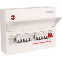 wylex wylex wylex metal 17th edition amendment 3 high integrity + 10 mcbs  consumer unit 10 way