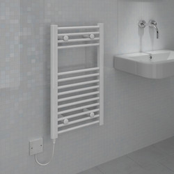 Kudox Electric Pre-Filled White Flat Towel Radiator