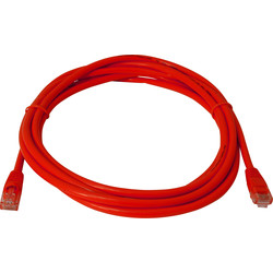 3.0m CAT5E UTP Patch Lead Red
