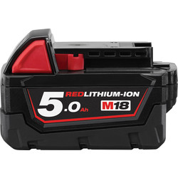 Milwaukee M18 18V Red Li-Ion Battery 5.0Ah