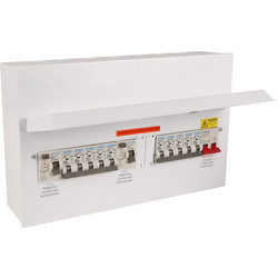 Axiom Axiom Metal 17th Edition Amendment 3 High Integrity Dual RCD + 10 MCBs Consumer Unit 12 Way - 82853 - from Toolstation