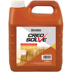 Barrettine CreoSolve Shed & Fence Treatment 4L Light Brown - 82957 - from Toolstation