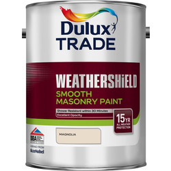 Dulux Trade Dulux Trade Weathershield Smooth Masonry Paint 5L Magnolia - 83016 - from Toolstation