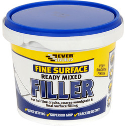 Everbuild Fine Surface Ready Mixed Filler 600g - 83140 - from Toolstation